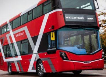"""""""Wrightbus"""" pristatė pirmąjį vandenilio kuro elementais varomą autobusą"""