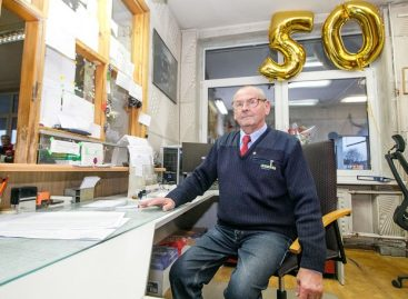 Neeilinė proga – įmonėje dirba jau 50 metų