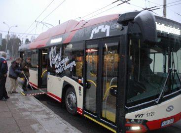 Pasivažinėjimas naujuoju sostinės troleibusu