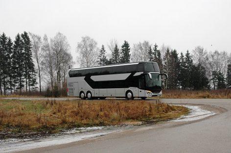 Lietuvoje – iki šiol Baltijos šalyse nematytas autobusas