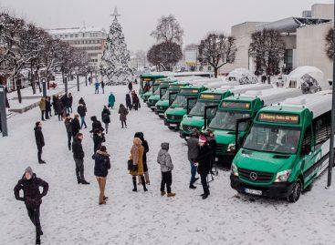 Šventėms Alytuje – nauji miesto autobusai