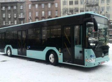 """Ukrainiečių """"Etalon"""" pristatė pirmąjį miesto autobusą"""