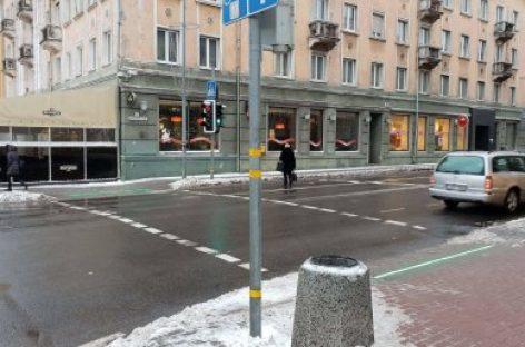 Klaipėdos sankryžose įdiegtos pirmosios LED juostos
