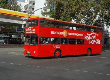 Berlyno dviaukščiai turistiniai autobusai bus elektriniai