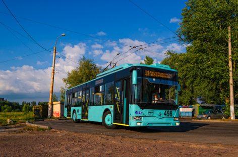 Černigovo gamykla pristatė troleibusą su autonomine eiga