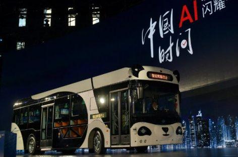 """Debiutuoja autonominis """"Smart Panda Bus"""""""