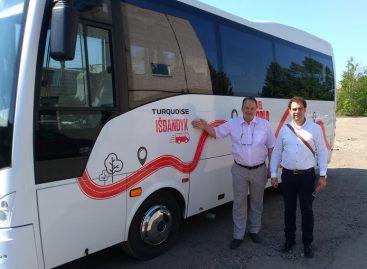 Uteniškiai išbando naują autobusą