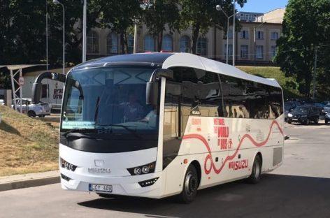 Klaipėdiškiai išbando naują autobusą