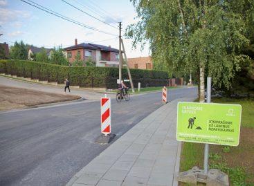 Sostinėje atnaujinamos gatvės
