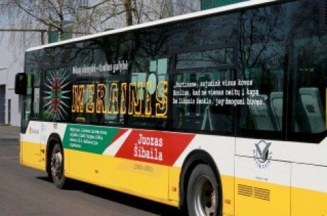 Partizanų istorijos atmintis – ant Šiaulių miesto autobusų