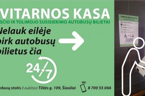 Šiaulių autobusų stotyje įrengtas savitarnos terminalas patiko keleiviams