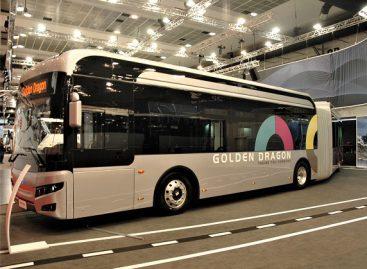 "Kinijos ""Golden Dragon"" pristatė Briuselyje keturis autobusus"
