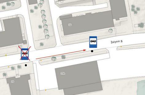 Vilniuje perkelta viešojo transporto Bistryčios stotelė
