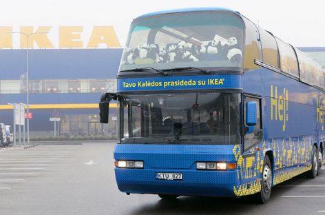 Nuo gruodžio 2-osios sostinėje – IKEA kalėdinis autobusas