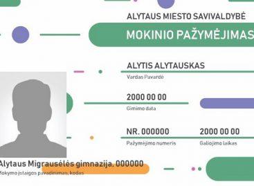 Alytaus miesto mokinio pažymėjimas – ir elektroninis viešojo transporto bilietas