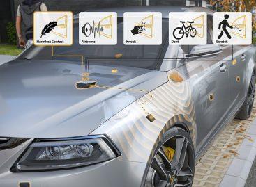 Garsiniai jutikliai padės registruoti automobilio kėbulo pažeidimus ir atgrasys vandalus