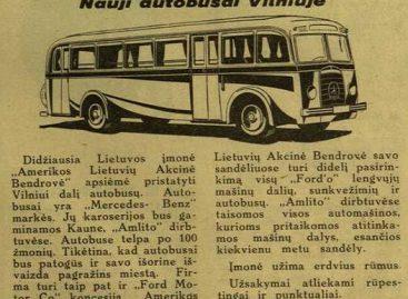 Prieš 80 metų Vilniuje įkurta Autobusų Susisiekimo įmonė