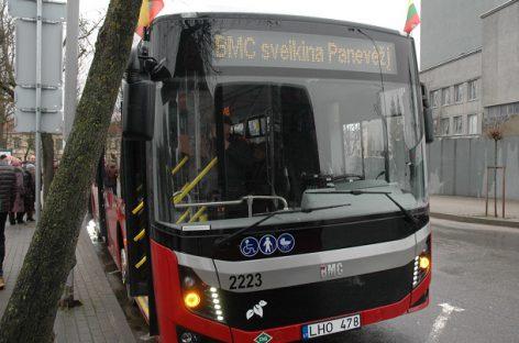 Į Panevėžio miesto gatves išriedėjo nauji ekologiški autobusai