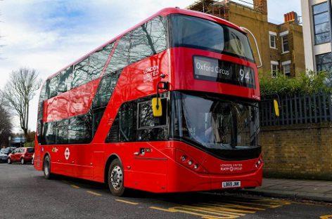 Londone – pirmasis maršrutas, kuriuo veš tik elektriniai dviaukščiai autobusai