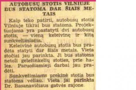 Viešojo transporto naujienos prieškario Vilniuje