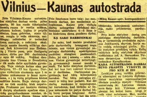 Apie autostrados Vilnius-Kaunas tiesimą – 1940-ųjų spaudoje