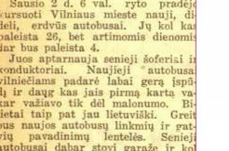 Prieškariu Lietuvai atgavus Vilnių, perkami nauji autobusai ir diegiami nauji bilietai