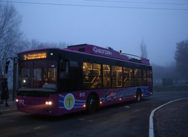 Ukrainos mieste – troleibusų maršrutas su atkarpa be laidų