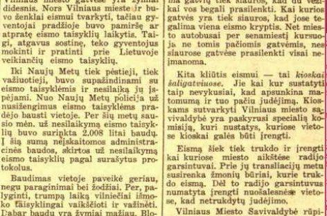 Kaip sostinėje eismas vyko prieš 80 metų?
