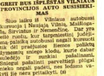 Kas vyko sostinės viešajame transporte 1940-ųjų balandį?