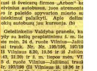 Viešojo transporto istorija Vilniuje 1940 m. liepos mėnesį