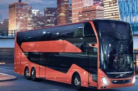 """Pristatytas čempioniško aukščio """"Volvo"""" autobusas"""