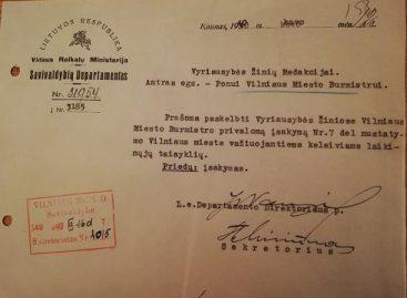 Prieš 80 metų Vilniaus mieste įsigaliojo laikinosios taisyklės viešojo transporto keleiviams