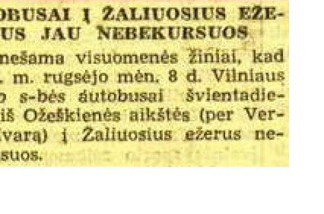 Vilniaus autobusų istorija 1940-ųjų rugsėjį