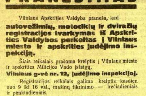 Vilniaus miesto autobusų istorija 1940-ųjų spalį