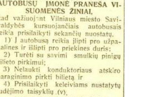 Vilniaus miesto autobusų istorija 1940-ųjų lapkritį