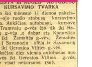 Sostinės autobusų istorija 1940-ųjų gruodį