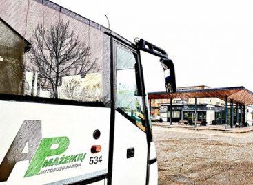 Iki karantino pabaigos Mažeikių autobusų parkas keleivius miesto ir priemiesčio maršrutais veš nemokamai