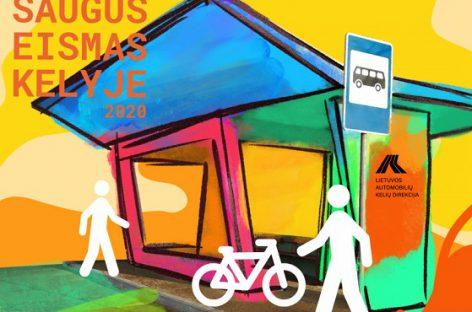 Mokinių piešiniai papuoš autobusų stotelių paviljonus