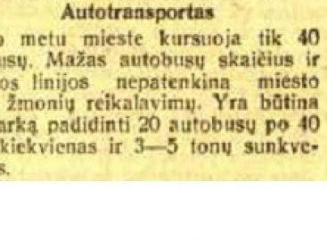 Sostinės autobusų istorija 1941-ųjų vasarį