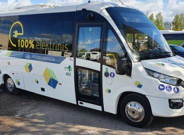 Naujuosiuose tauragiškių elektriniuose autobusuose – ir lietuviškas elementas