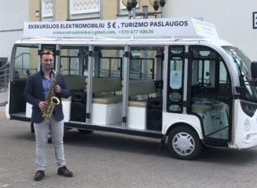 Druskininkuose savaitgalio pramogoms – elektrinis autobusiukas