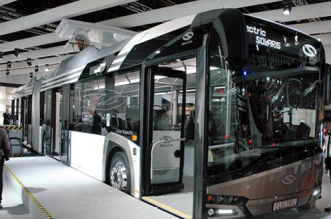 """""""Solaris"""" pristatys 50 sudvejintų elektrinių autobusų Krokuvai"""