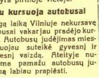Kas vyko sostinės viešajame transporte 1939-aisiais?