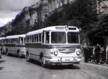 Sostinės viešojo transporto eismas 1957-aisias