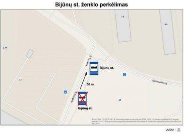Vilniuje perkeliama Bijūnų viešojo transporto stotelė