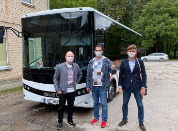Biržų keleivinio transporto įmonė išbando naują autobusą