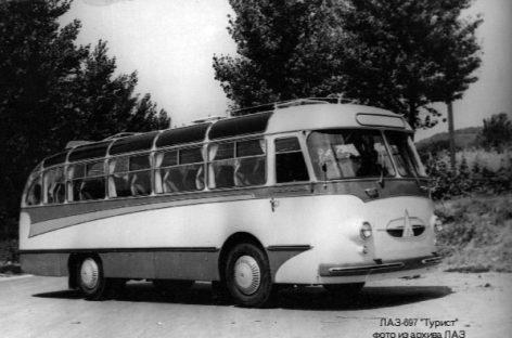 """Išskirtinis sovietinis autobusas – LAZ-697 """"Tourist"""""""