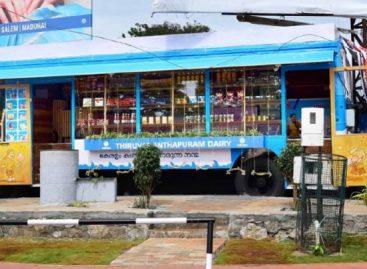 Autobusuose – mobilios maisto prekių parduotuvės