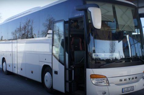 Nuo balandžio 30 d. autobusai iš Marijampolės į Vilnių važiuos dažniau