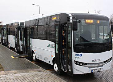 Nauji žemagrindžiai autobusai – Naujojoje Akmenėje